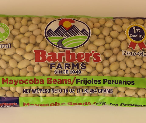 Mayocoba beans in 1 lb. bags