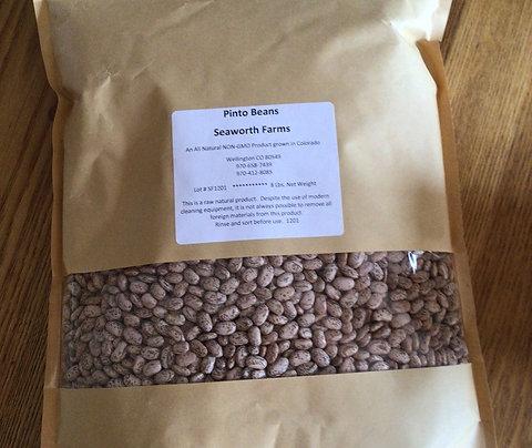 Seaworth Farms pinto beans 8 lb. bag
