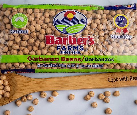 Garbanzo beans in 1 lb. bags