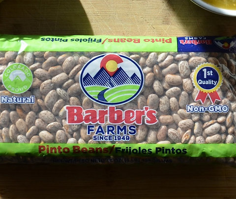 Pinto beans in 1 lb. bags