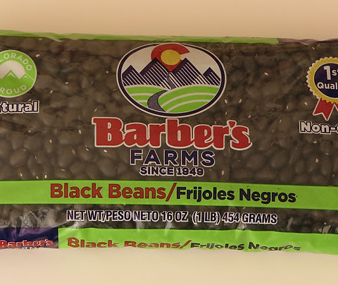 Black beans in 1 lb. bags