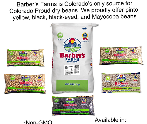 Five classes of Colorado Proud beans - free shipping!