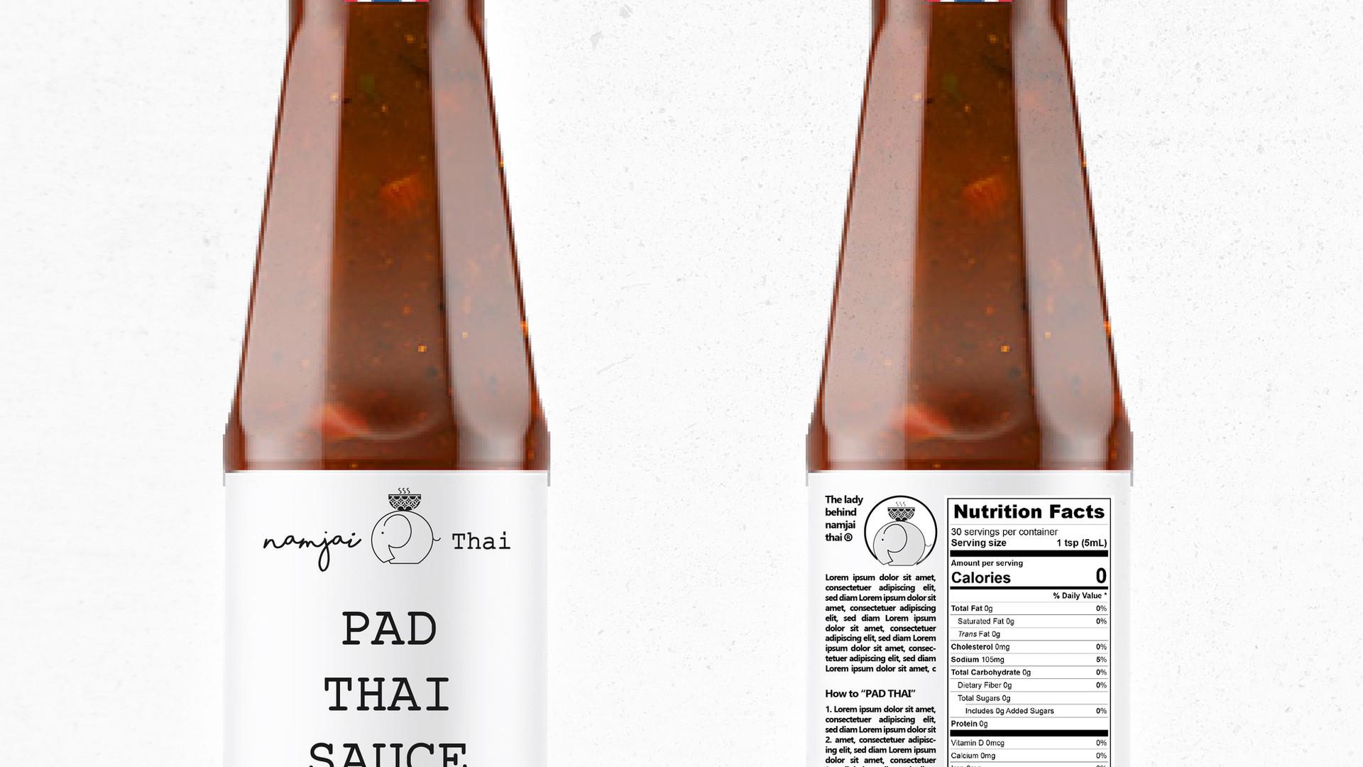 Nam Jai Thai Sauce Label