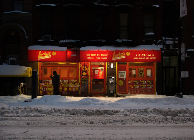 Luckys, Hell's Kitchen, New York City.