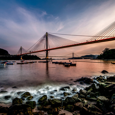 Ting Kau Bridge, Hong Kong.