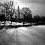 Frozen Central Park Lake, New York City