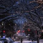 Snowy Manhattan Street, Hell's Kitchen.