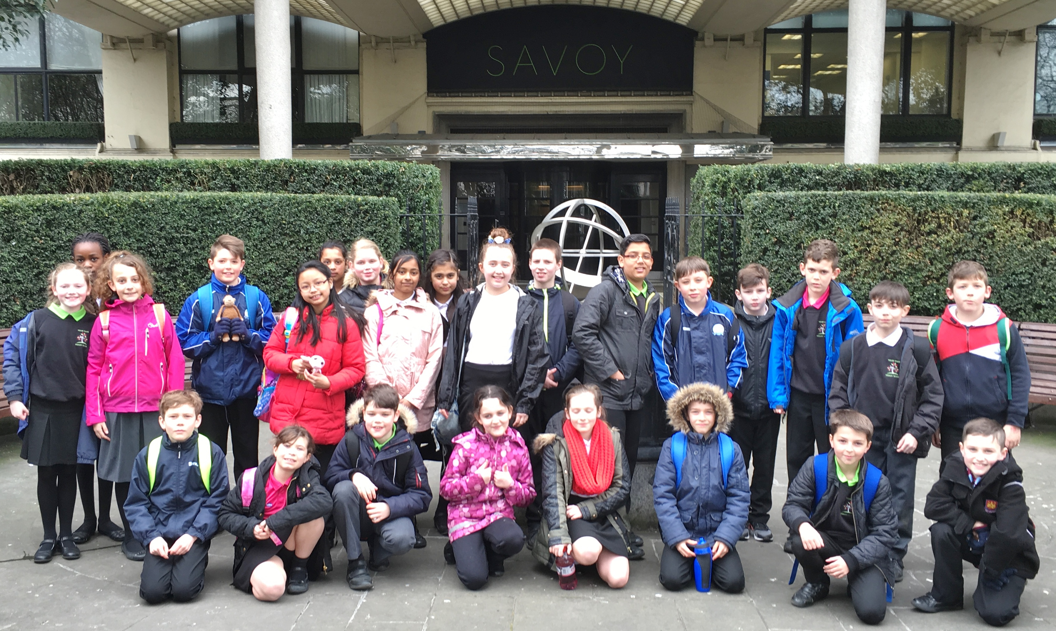 UKS2 Outside Royal Courts of Justice