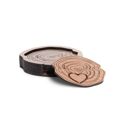 Love Me Knot Coasters with Expanding Holder