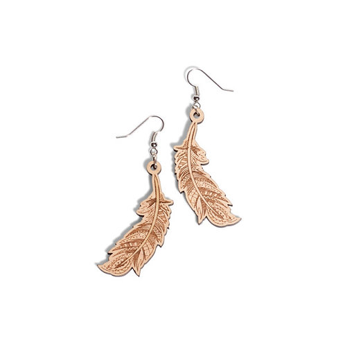 Summer Feather Dangle Earrings with Details