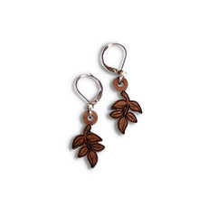 Grecian Goddess Short Leaf Dangle Earrings