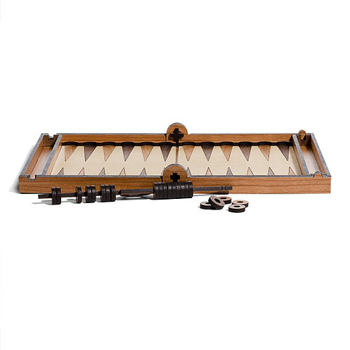 Deluxe Bookshelf Backgammon Set