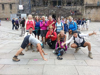 Yoga Group on the Camino de Santiago