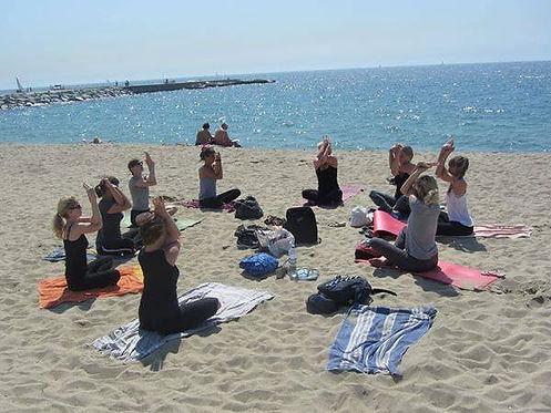 Beach Yoga in Barcelona
