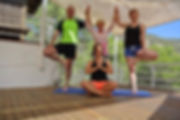 Yoga Group Outside on a Yoga Holiday in Ibiza