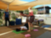 Acro Yoga is fun. Trust building.