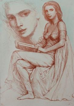 Lesende (Woman Reading)