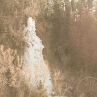 Frozen Colorado waterfall