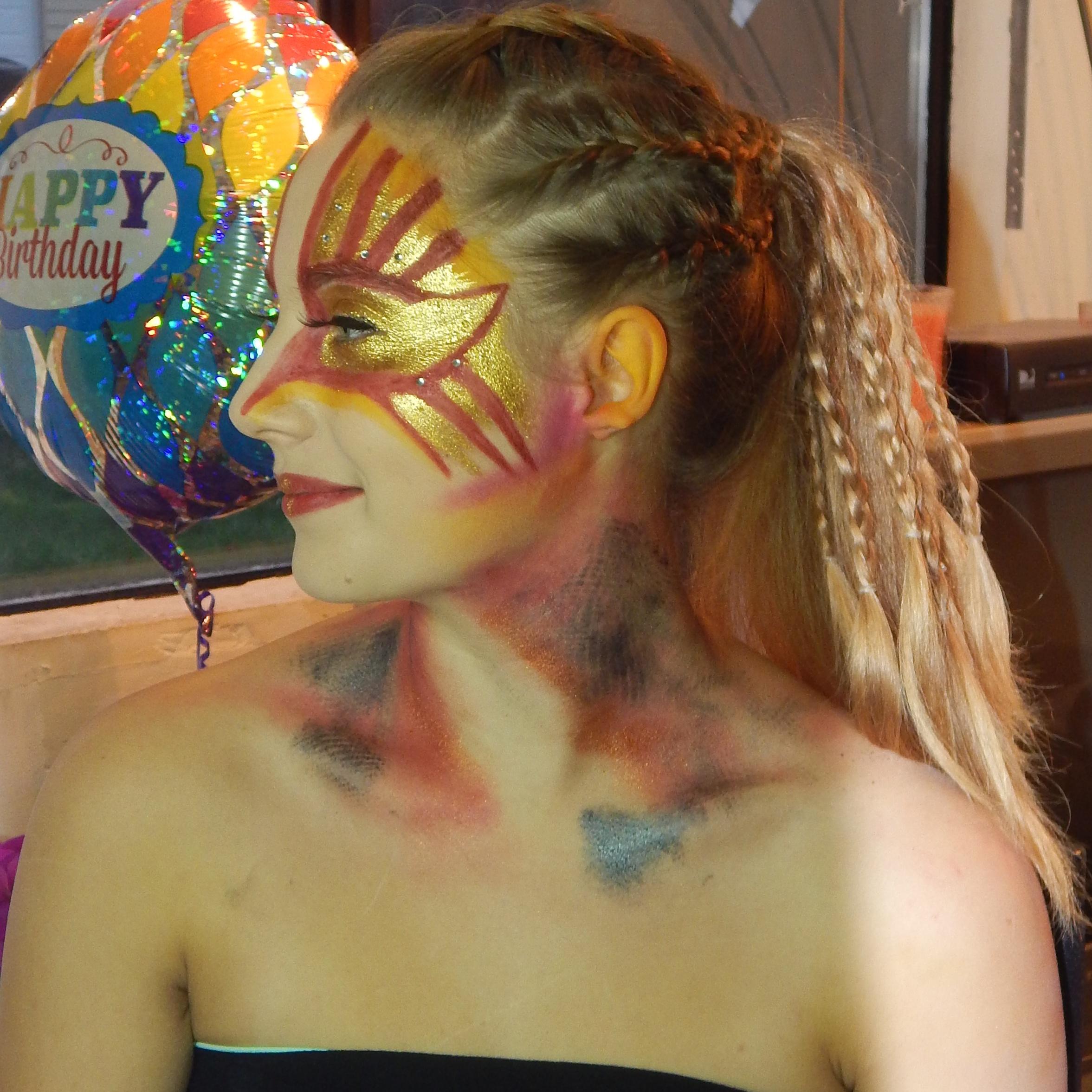 Halloween Phoenix Makeup