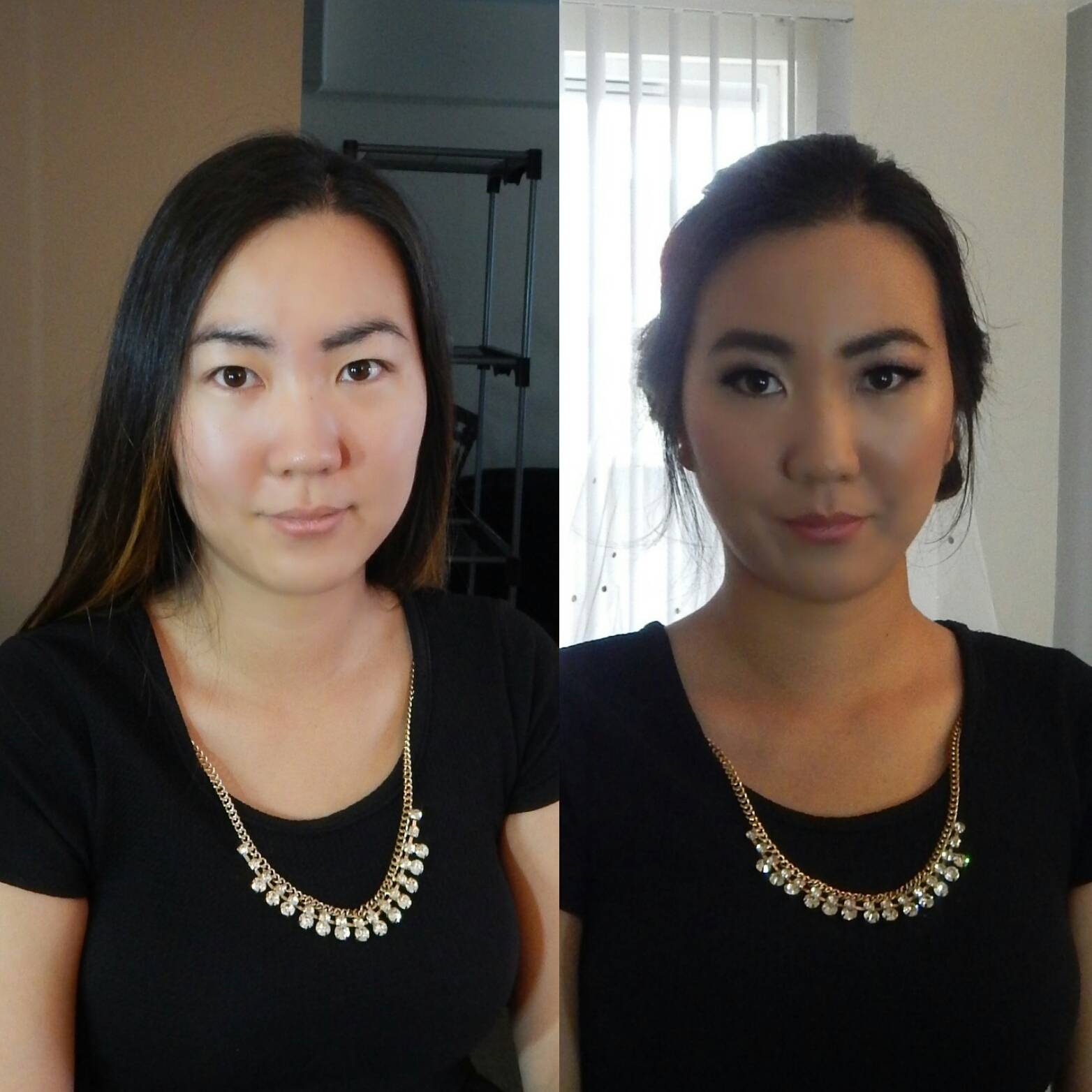 Before & After Bride Hair & Makeup