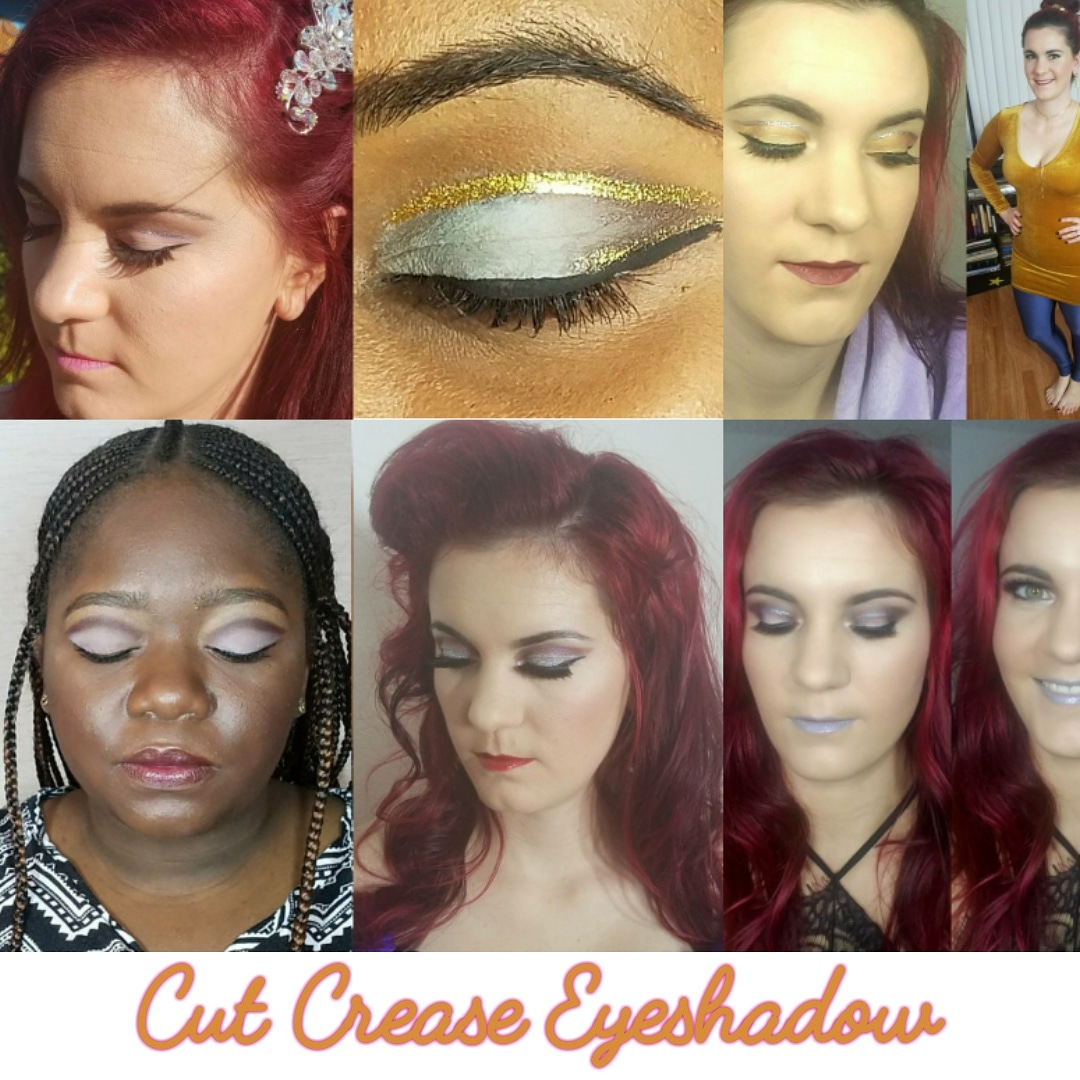 Cut crease bold eye makeup