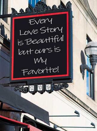 Custom Love Sign Shutter Me Happy