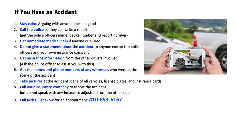 9 tips for when you have an accident