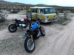 Triumph Scrambler Street Sled in the Desert