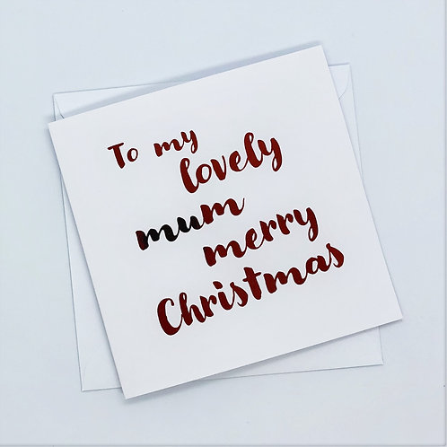 Red Foil Christmas Mum Simple Card