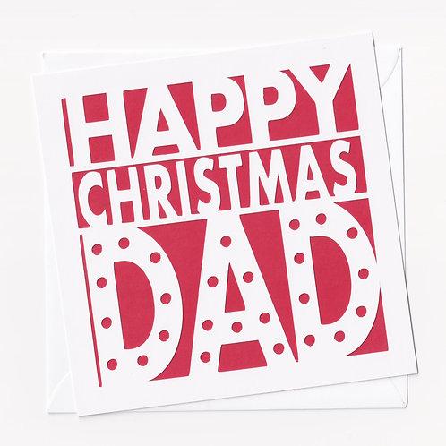 "Papercut ""Happy Christmas Dad"" Christmas Card"