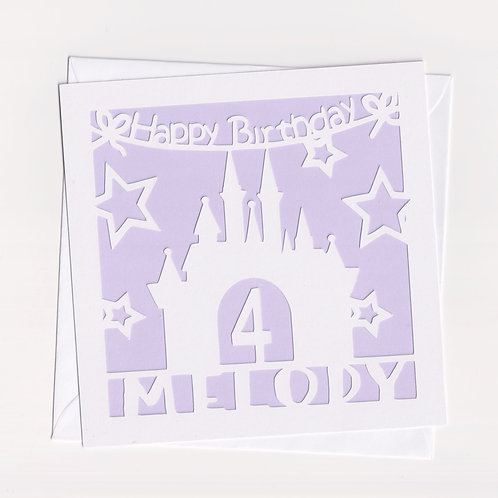 Personalised Papercut Castle Card