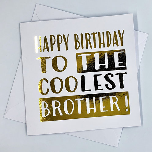 Gold Foil Brother Birthday Card