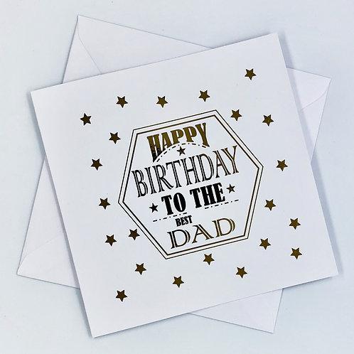 Gold Foil Best Dad Birthday Card