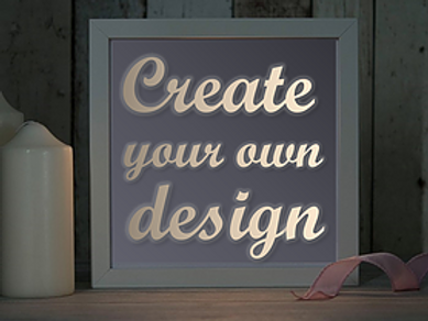 Framed Create Your Own Design Mood Light Papercut