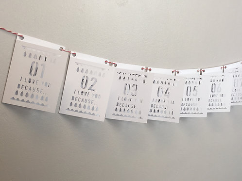 Countdown Christmas Papercut Bunting