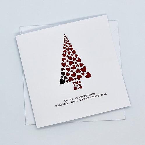 Red Foil Christmas Mum Tree Card