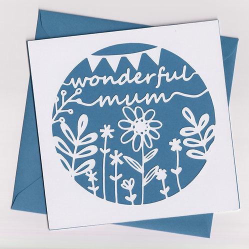 Papercut Wonderful Mum Birthday Card