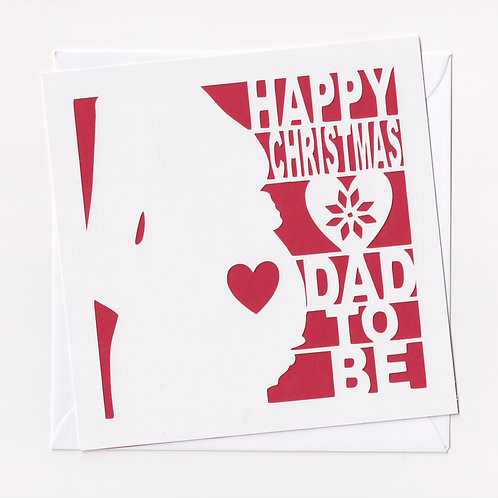 Papercut Dad To Be Christmas Card