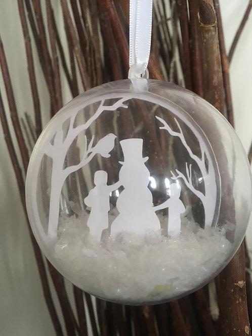 Christmas Snowman Bauble