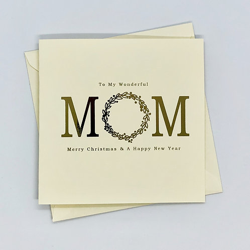 Gold Foil Mom Christmas Card