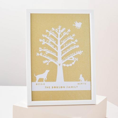 Papercut Family Tree Papercut