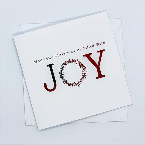 Red Foil Christmas Joy Card
