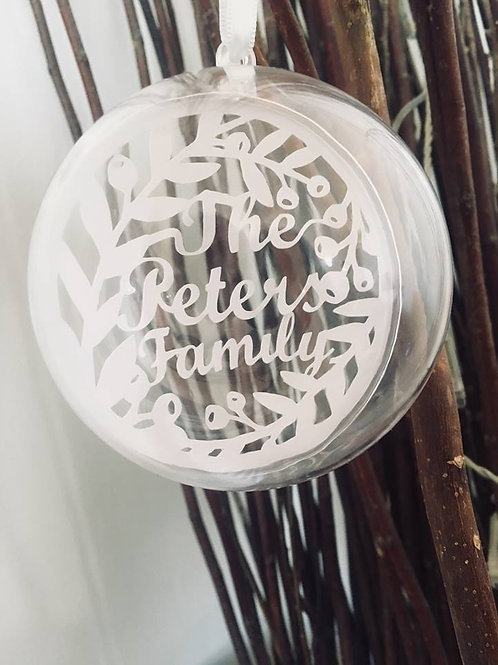 Personalised Christmas Family Name Bauble