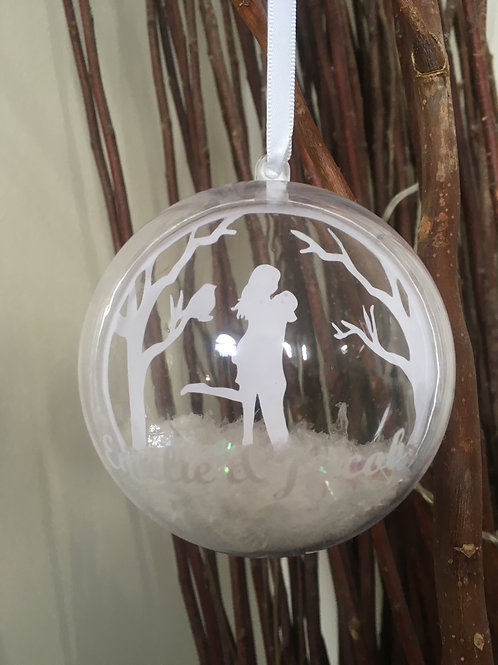Personalised Christmas Romantic Couple Bauble