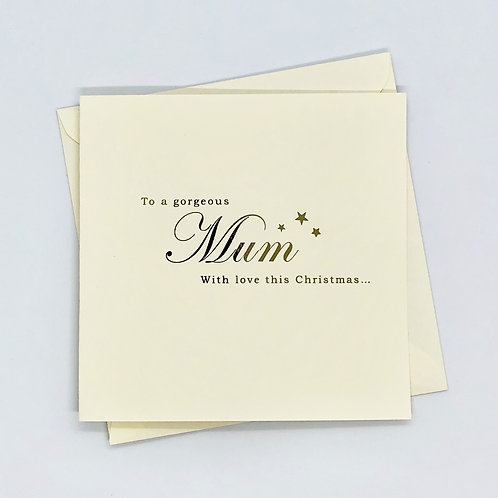 Gold Foil Christmas Mum Star Card