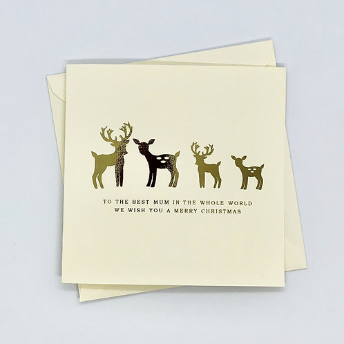 Gold Foil Christmas Mum Deer Card