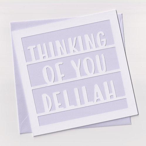 """Personalised """"Thinking Of You"""" Papercut Card"""