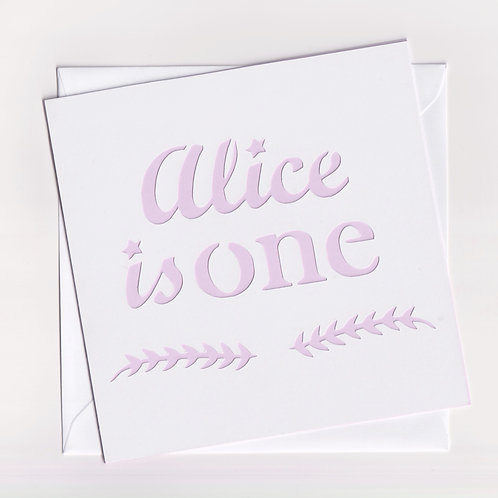 Personalised Papercut Number Birthday Card