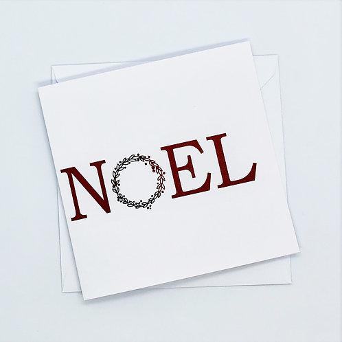 Red Foil Christmas Noel Card