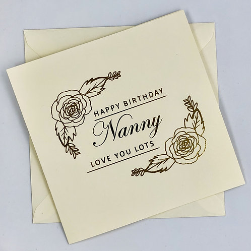 Gold Foil Grandma Birthday Card